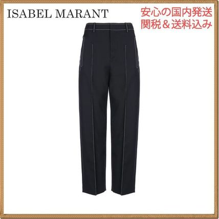 Isabel Marant Casual Style Wool Plain Pants