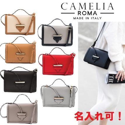 Name Possible Gift BOX with Leather Charm shoulder bag