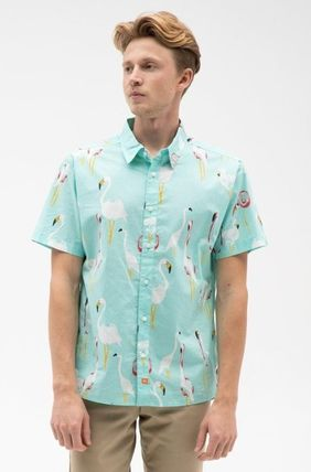 Ron Herman Shirts Flower Patterns Tropical Patterns Cotton Short Sleeves 4