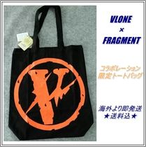 VLONE Canvas Street Style Collaboration A4 Plain Totes