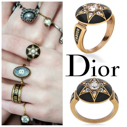 Christian Dior Star Casual Style Rings