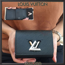 Louis Vuitton EPI Unisex Calfskin Plain Folding Wallets