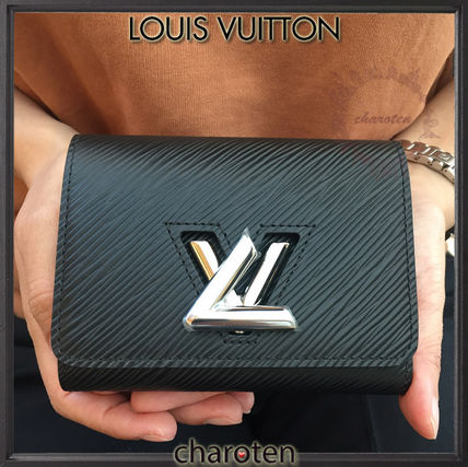 Louis Vuitton EPI Unisex Calfskin Plain Folding Wallet Folding Wallets