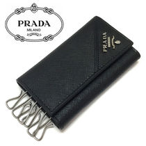 PRADA Leather Keychains & Holders