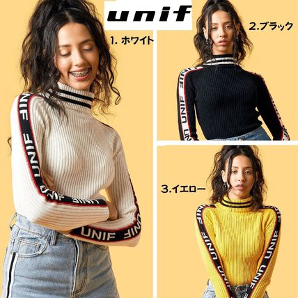UNIF Clothing Casual Style Street Style Long Sleeves Cotton