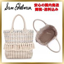 Sam Edelman Casual Style Blended Fabrics Leather Totes