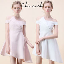 Chicwish Flared Plain Medium Party Dresses
