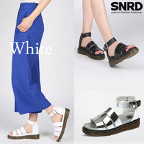 Open Toe Casual Style Plain Sport Sandals Chunky Heels
