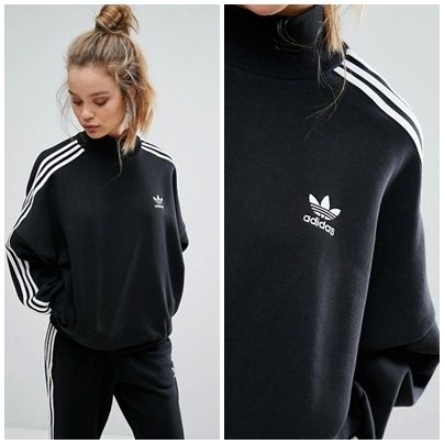 adidas Short Stripes Casual Style Street Style Long Sleeves Cotton
