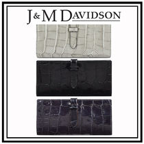 J & M Davidson Leather Long Wallets