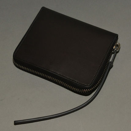 RICK OWENS ZIPPED leather wallet BLACK 2016FW