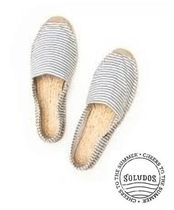SOLUDOS Stripes Round Toe Slippers Slip-On Shoes