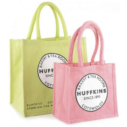 HUFFKINS Eco Bag SET Jute Pool