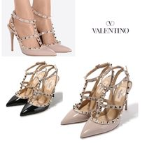 VALENTINO Studded Leather Pin Heels Stiletto Pumps & Mules