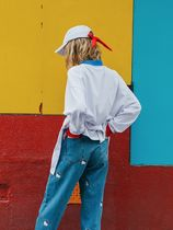 LAZY OAF Printed Pants Tropical Patterns Street Style Collaboration