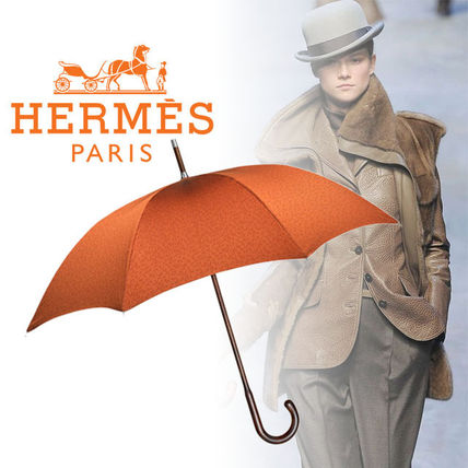 Hermès Pluie de H Orange umbrella
