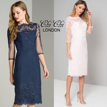 Chi Chi London Boat Neck Cropped Medium Party Dresses