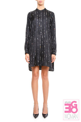 ISABEL MARANT GAIA silk Twill shirt dress