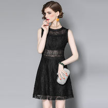 Short A-line Sleeveless Lace Party Dresses