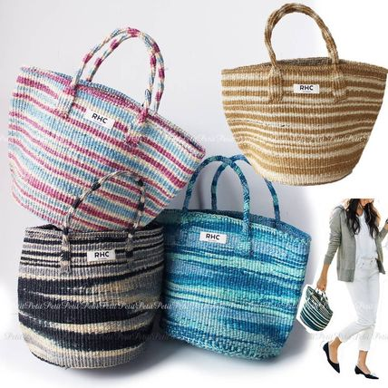 RHC natural material basket bag zebra pattern