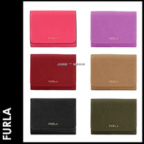 FURLA Saffiano Plain Folding Wallets