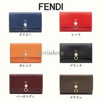 FENDI PEEKABOO Calfskin Studded Plain Long Wallets
