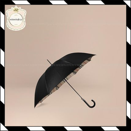 Oversize Checked Lined walking umbrella