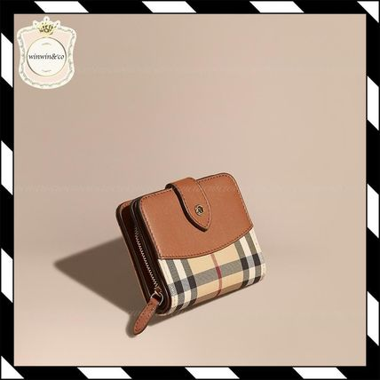 Horse Ferry Check & Leather wallet