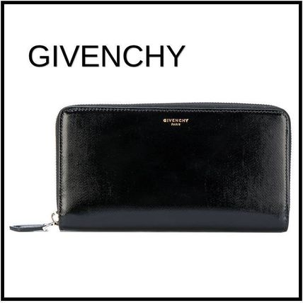 Simple dignity black long wallet 2017SS