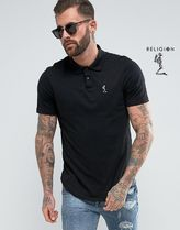 Religion Skull Street Style Cotton Short Sleeves Polos