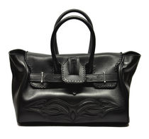 Golden Goose Casual Style Calfskin Street Style Plain Totes