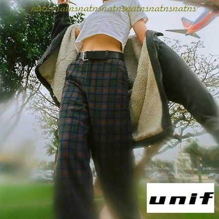 UNIF Clothing Glen Patterns Casual Style Long Pants