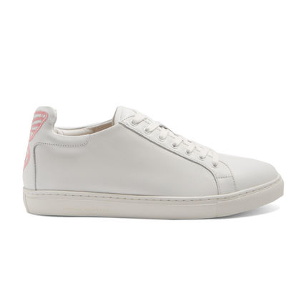 SOPHIA WEBSTER Round Toe Plain Leather Low-Top Sneakers