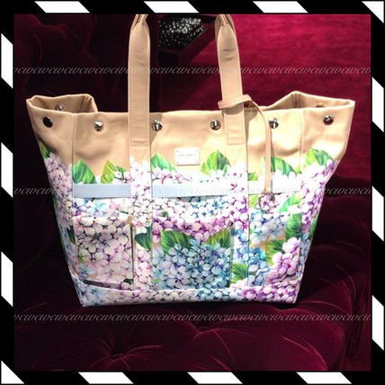 089de1768a Flower Patterns Canvas A4 Elegant Style Totes. Dolce   Gabbana