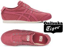 Onitsuka Tiger Plain Toe Rubber Sole Casual Style Street Style Plain
