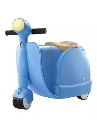 Suitcase for children with absolute pleasure 2in1 light blue