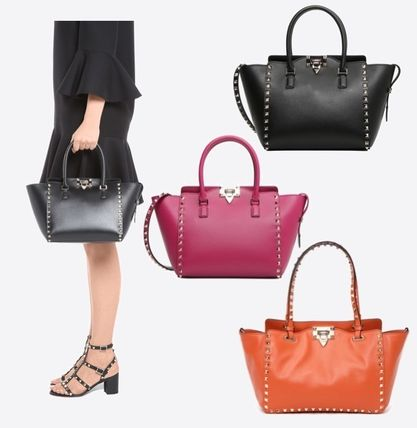 Rock studded tote bag small