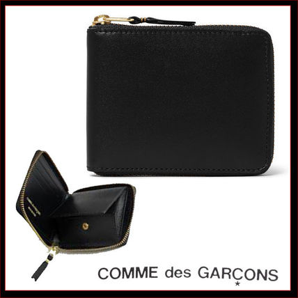 2-3 day Comme des Garcons leather bifold zipper wallet