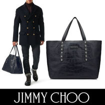 Jimmy Choo Unisex Crocodile A4 Other Animal Patterns Totes