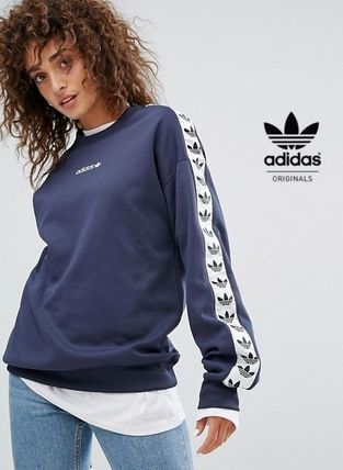 adidas Casual Style Sweat Street Style Long Sleeves