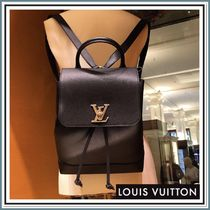 Louis Vuitton Unisex 2WAY Plain Leather Backpacks