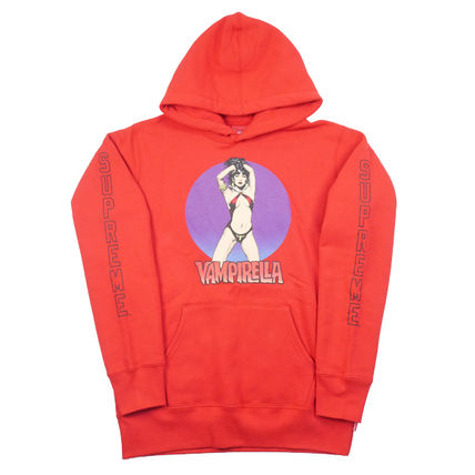 Supreme Hoodies Pullovers Street Style Collaboration Long Sleeves Cotton