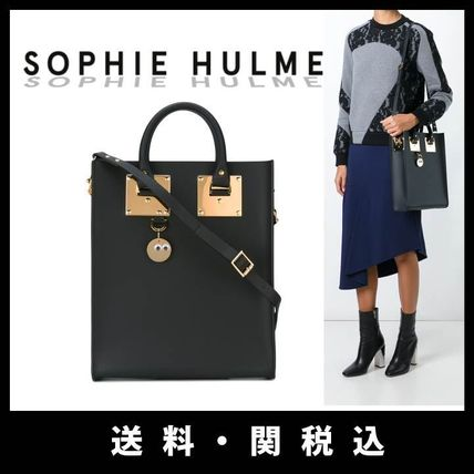 SOPHIE HULME Casual Style Calfskin A4 2WAY Plain Totes
