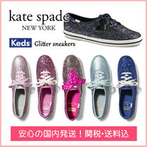 kate spade new york Round Toe Casual Style Collaboration Plain Low-Top Sneakers
