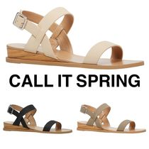 Call It Spring Open Toe Casual Style Plain Sandals