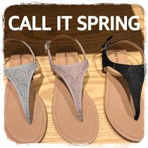 Call It Spring Casual Style Plain Sandals