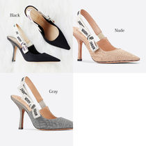 Christian Dior JADIOR Casual Style Blended Fabrics Plain Leather Pin Heels