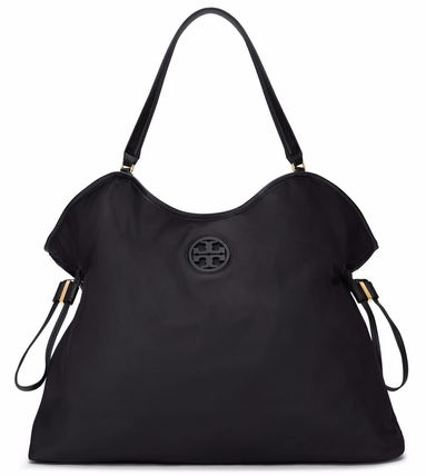 NYLON SLOUCHY TOTE 22159522 BLACK NAVY