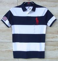 Ralph Lauren Stripes Unisex Street Style Cotton Short Sleeves Polos