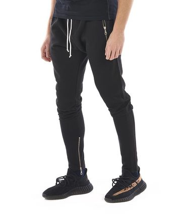 KHZARI Joggers & Sweatpants Street Style Plain Cotton Joggers & Sweatpants